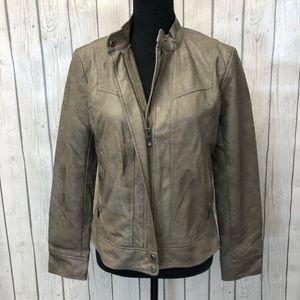 BERNARDO vegan leather moto jacket m